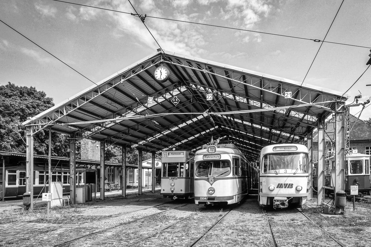 Hall where the trams stand